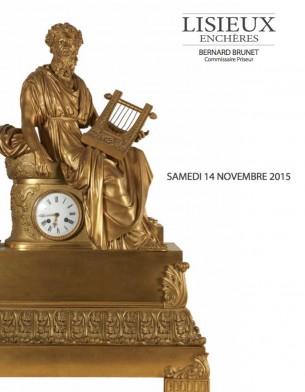 Belle vente aux enchères samedi 14 novembre 2015