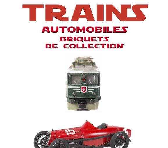 Vente de jouets trains, automobiles, briquets de collection